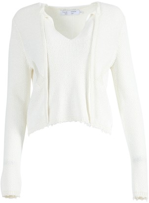 Proenza Schouler White Label Off-white Frayed Edges Pullover Top