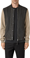 Allsaints Allsaints Avon Leather Bomber Jacket, Steel Blue/shale