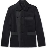 Burberry Gabardine-Trimmed Double-Faced Cashmere Jacket