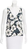 Intermix Floral Print Silk Top