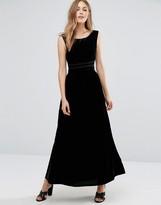 Vila Sleeveless Velvet Maxi Dress