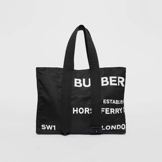 Burberry Belt Detail Horseferry Print Nylon Tote