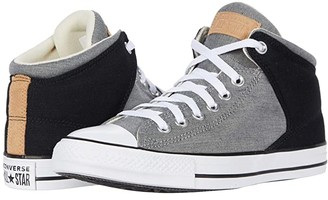 Converse Chuck Taylor All Star High Street Chambray - Mid (Black/White/Black) Men's Shoes