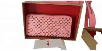 Christian Louboutin Panettone Pink Leather Wallets