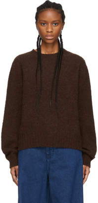 YMC Brown Jets Crewneck Sweater