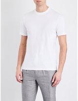 Brunello Cucinelli Contrast-detail Cotton T-shirt
