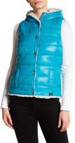 Blanc Noir Packable Front Snap Reversible Faux Fur Lined Vest