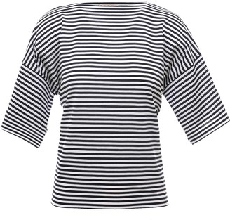Marni Logo Motif Striped T-Shirt
