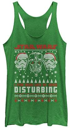 Fifth Sun Star Wars Women's Lack of Cheer Ugly Christmas Sweater Racerback Tank Top