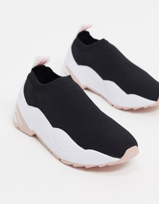 Steve Madden moments knitted chunky trainers in black