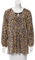 Tracy Reese Silk Leopard Top