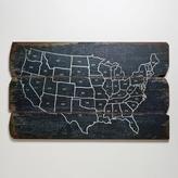 Cost Plus World Market Wood USA Wall Map
