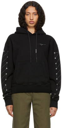 Off-White Off White Black Diag Backbone Over Hoodie