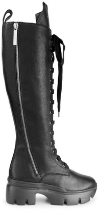 Giuseppe Zanotti Lug-Sole Tall Leather Combat Boots