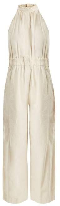 Apiece Apart Archer Wide Leg Cotton Jumpsuit - Womens - Cream