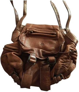 Jerome Dreyfuss Twee Mini Camel Leather Handbags