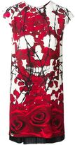 Philipp Plein rose print dress - women - Polyester/Spandex/Elastane/Viscose - S