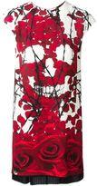 Philipp Plein rose print dress - women - Viscose/Polyester/Spandex/Elastane - S