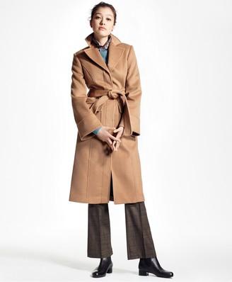 Brooks Brothers Loro Piana Single-Breasted Camel Hair Coat