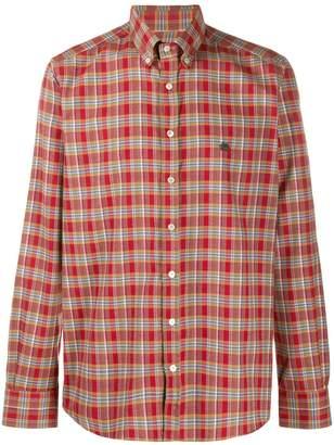 Etro check print long sleeve shirt