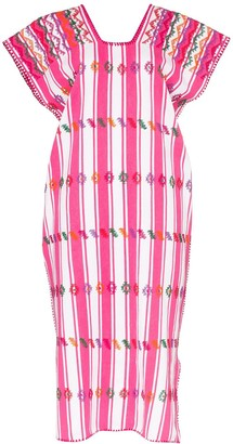 Pippa Holt embroidered striped kaftan dress