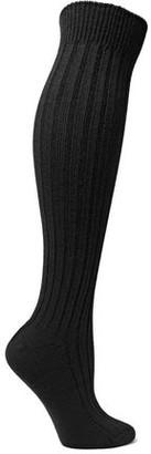 Red(V) Ribbed Wool Socks