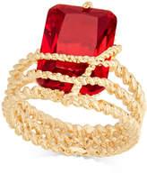 Charter Club Gold-Tone Red Stone Multi-Row Wrap Ring, Created for Macy's