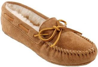 Minnetonka Leather Moccasin Slippers - Sheepskin Softsole Moc