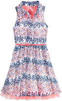 Beautees Floral-Print Shirt Dress, Big Girls