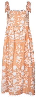 Juliet Dunn Printed cotton midi dress