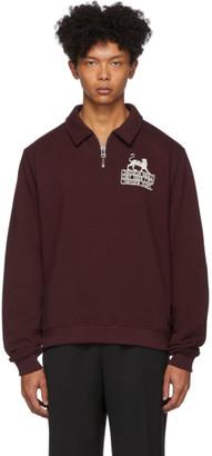 Tiger of Sweden Burgundy Ocean Half-Zip Sweater