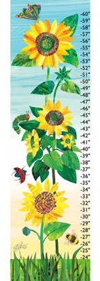 Eric Carle Insects and Sunflowers Canvas Growth Chart