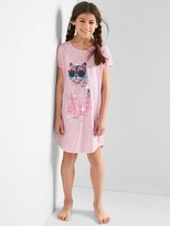 Cat short sleeve nightgown