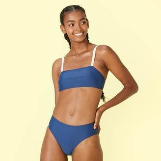 Summersalt The Oasis Bikini Top - Atlantic & White Sand