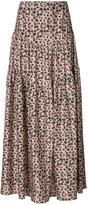 Hellessy - floral maxi-skirt - women - Silk/Spandex/Elastane - 4