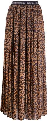 Marcelo Burlon County of Milan County Leopard long skirt