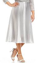 Alex Evenings Plus Charmeuse Tea-Length Skirt