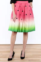 Unique Vintage Watermelon Knee Skirt