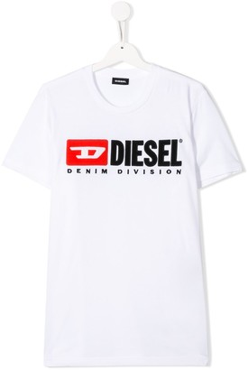 Diesel TEEN embroidered logo T-shirt