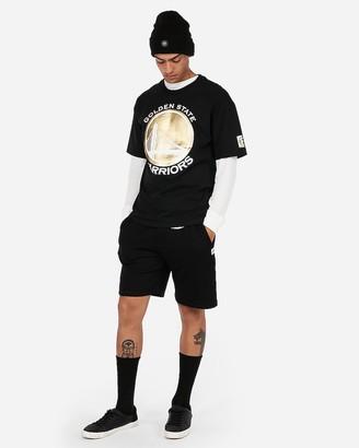 Express Golden State Warriors Nba Heavyweight Foil Graphic T-Shirt