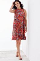 J. Jill Sleeveless A-Line Paisley Dress