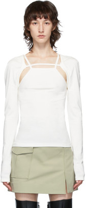 Dion Lee White Jersey Rib Holster Long Sleeve T-Shirt