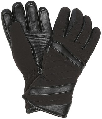 Toni Sailer Alek leather-trimmed ski gloves