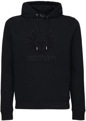 Belstaff Logo Embroidered Cotton Hoodie