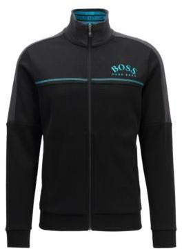 BOSS Regular-fit sweatshirt with curved logo