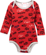 Baby Nay Red & Gray Car Bodysuit Set - Infant