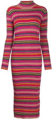 Twin-Set Ribbed Striped Dress