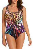 Longitude One-Piece Panel Scoopneck Swimsuit