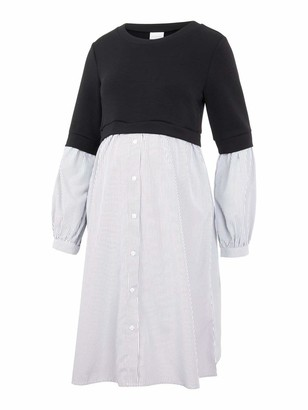 Mama Licious Mamalicious Women's MLJENNIFER L/S Mix ABK Dress Casual