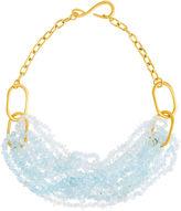 Catherine Canino Blue Quartz Chip Torsade Link Necklace